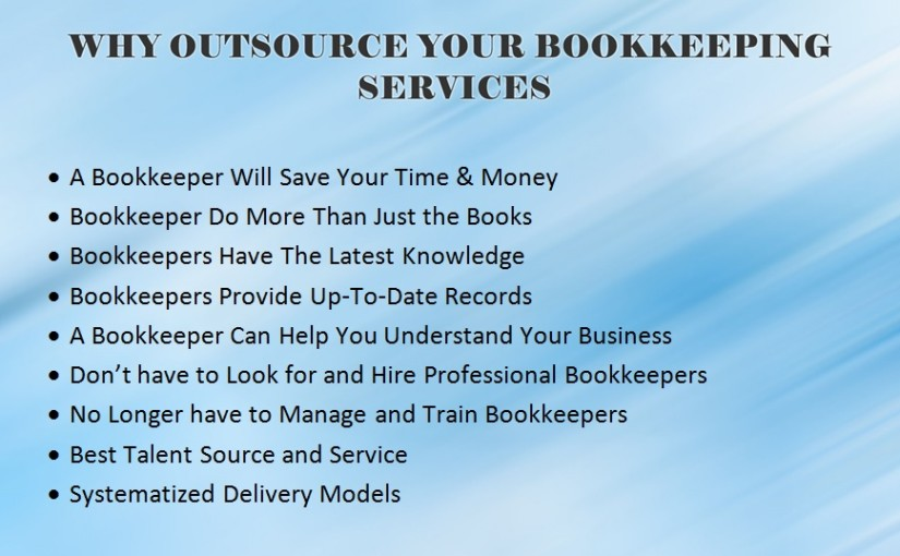 Outsource Your Bookkeeping and Accounting Services