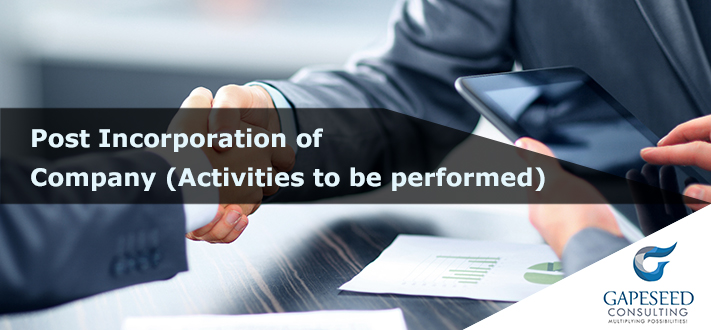 Activities to Be Performed after Incorporation Of Company